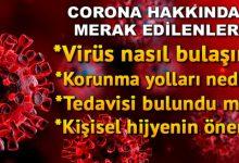 Photo of Corona virüsü belirtileri neler? İşte corona virüsünden korunmak için alınacak önlemler